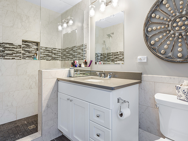 Bathroom Updates Reflect A Whole New Look For This Wheaton Home