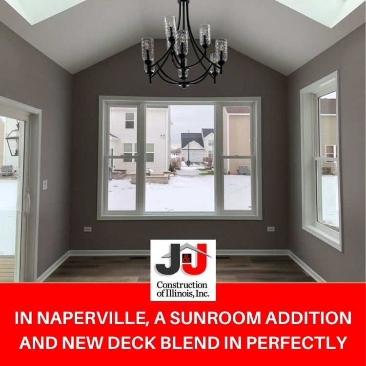 In Naperville, A Sunroom Addition and New Deck Blend in Perfectly