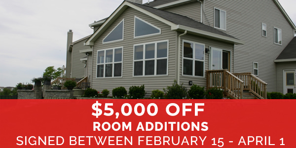 $5,000 Off Room Additions