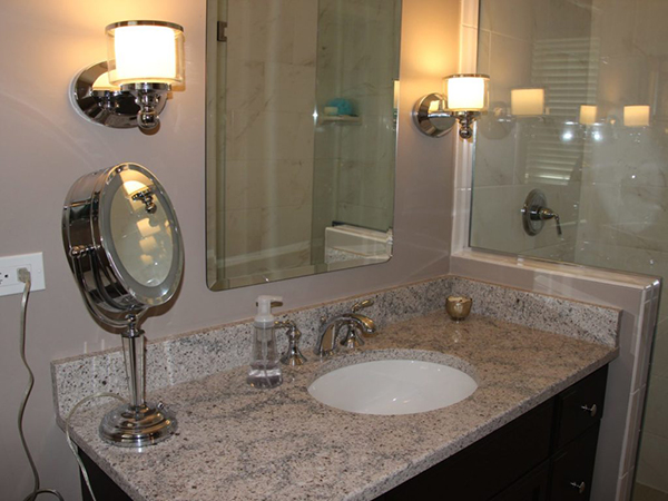 Naperville bathroom with a regal flair