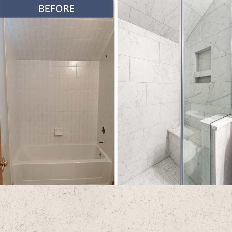 Subtle Soothing Hallway Bath Remodel in Aurora